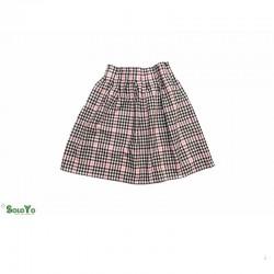 Falda de Tablas Rosa